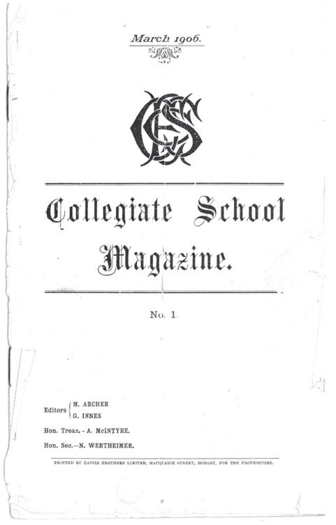 Collegiate School Magazine