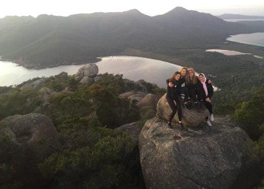 Students on Peak of Mount Amos