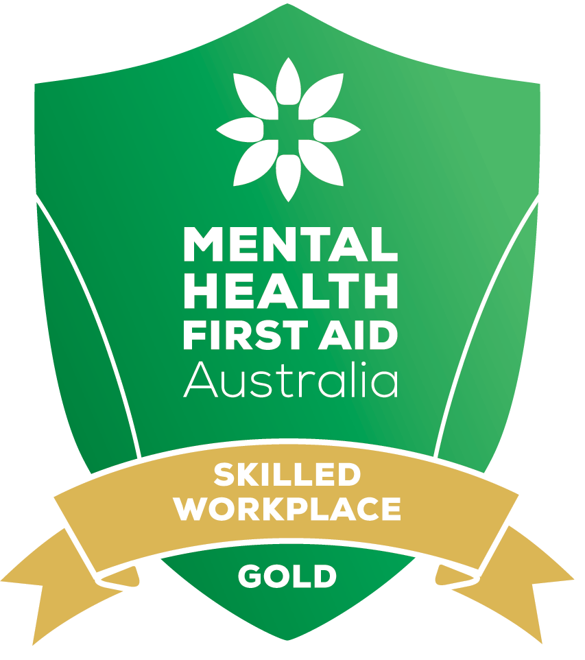 Mental Health First AID Australia. Skilled workplace. Gold.