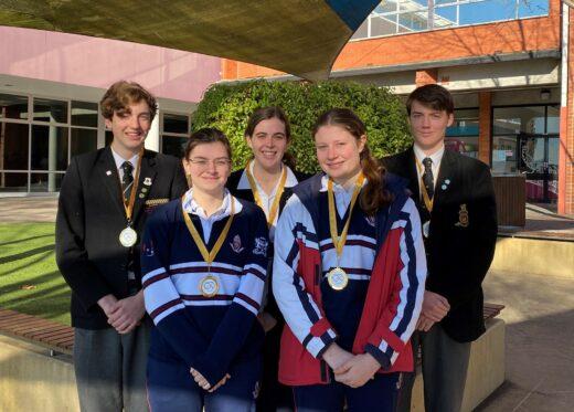 a team comprised of Ben Horsham, Owen Morley, Gypsy Polacheck (Collegiate), Catherine Gourlay (Collegiate) and Migali Ennis-Short (all Year 12)